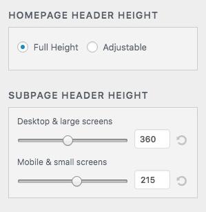 OsixthreeO header height control